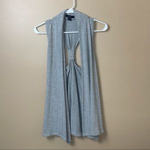 Forever 21 gray fall sweater vest layers